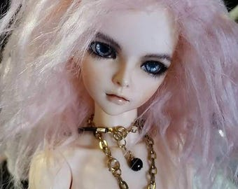 Akasarushi Spring Sakura Color Fur Wig Made for abjd doll size SD MSD tiny yosd Monster High and puki