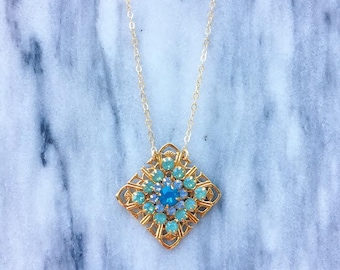 Caribbean Blue Crystal Necklace