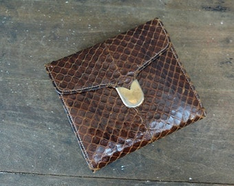 Vintage Ladies' Wallet Snakeskin by Bond Street Lesco 1940s 1950s Leather
