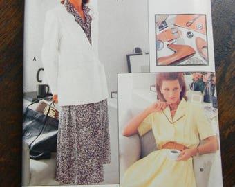 Vintage Vogue Pullover Dress and Jacket Pattern #7157 Uncut Sizes 14 thru 18
