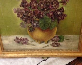 Vintage oil of violets