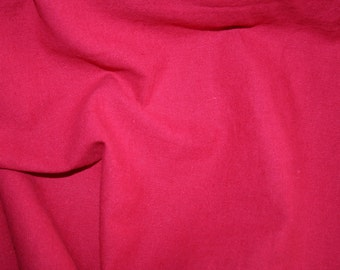 Special offer! Watermelon red linen/cotton fabric 1 metre+ remnant piece