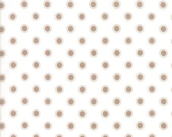 Olives Flower Market (5036 21) Taupe Cloud Parisian Dots  by Lella Boutique