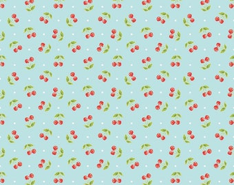 Glamper-licious, By Samantha Walker Glamper Cherries Aqua C6313-AQUA
