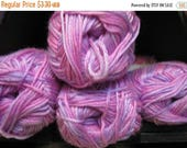 ON SALE Super Soft Princess Purple Variegated Color Cascade Cherub DK Multis Yarn 180 yards Acrylic Nylon Blend Color 508