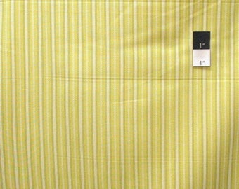 SALE Dear Stella Stripe Citron Quilting Cotton Fabric By Yard