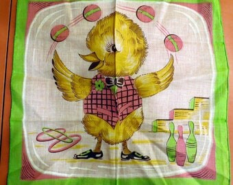 1920's 1930's NWOT Childs Chick Hankie Batiste Cotton 9 X 9 Vintage