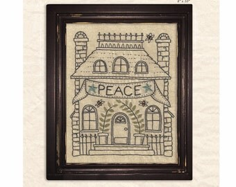 Peace at Home embroidery - July