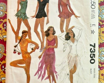 Vintage 1980s Womens Bodysuits and Dance Costumes Pattern - McCalls 7350