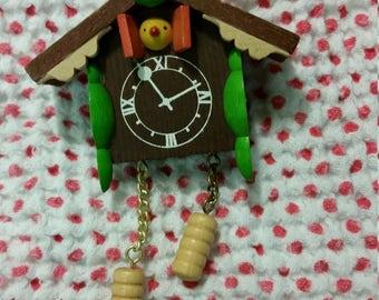 tiny cuckoo clock ornament
