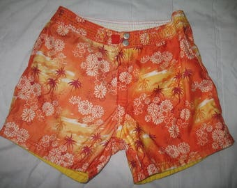 Reversible Tropical Beach Shorts