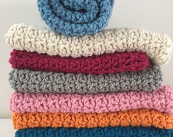 Baby blanket ~ chunky soft wool blend ~ choose your color or neutral