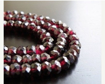 Love You 51% off Sale Garnet Gemstone Rondelle Dark Maroon Faceted 5.5mm Full Strand 80 beads