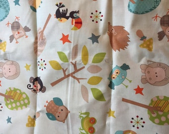One Yard of Woodland Animal Fabric