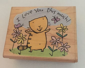 Love You This Much Rubber Stamp
