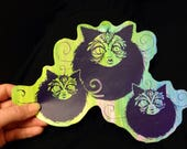 Lucid Rose Cat Orb sticker