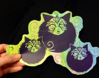 Lucid Rose Cat Orb sticker