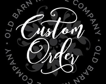 Custom order for Sue Everett - Custom Wall Decal