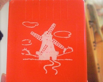 Mavco Red Dutch Windmill Match Box Holder