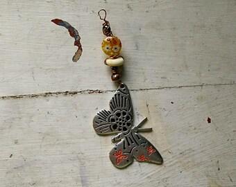 Butterfly Pendant Keychain
