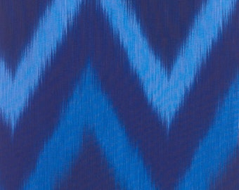 Ikat Blue Stripes Timeless Treasures Fabric 1 yard