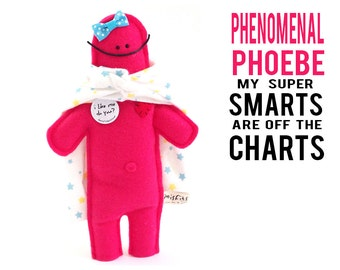 "The Mefits Phenomenal Phoebe Doll & Storybook ""My smarts are off the charts!"""
