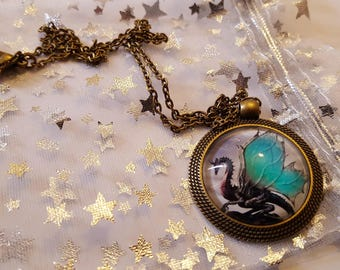 Steampunk Inspired Dragon Necklace