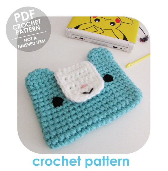 crochet pattern 3ds xl case 3ds xl sleeve crochet 3ds