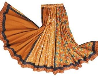 Full Circle Bohemian Cotton Skirt