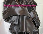DDNJ Choose Color Fabrics Renaissance Silky Taffeta Bustle Skirt Plus Custom Made ANY Size Pirate Nobility Gypsy Wench Vampire Goth Costume