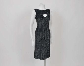 50s dress / Lounge Singer Vintage 1950's Lurex Lilli Diamond Wiggle Dress