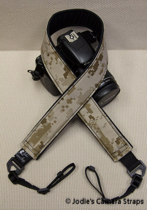 USMC Camera Strap 2 in or 1.5 in Wide Custom Padded Military Digi Cam Camouflage DSLR SLR