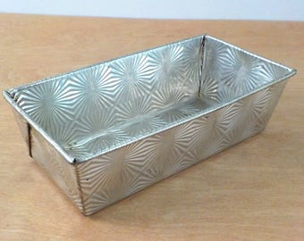 Vintage Ovenex Loaf Pan • New Ovenex Small Loaf Pan • Ovenex Starburst Pan