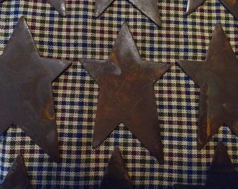 Lot of 12 3 inch Rusty Primitive Stars 3""