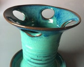 Toothbrush Holder in Turquiose and Blue