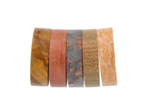 Wood Inlays For Interchangeable Rings, Unique Wood Wedding Bands or Nature Rings