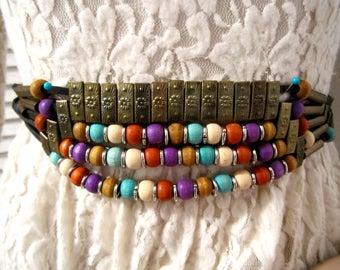 Belt, Beads Belt, Metal Belt, Rope Belt, Wide vintage Belt, Adjustable Link Belt, Beaded Belt, Vintage belt