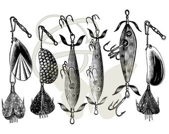 Fishing clip art – Etsy