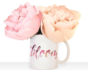 "Watercolor Floral ""bloom"" Mug"