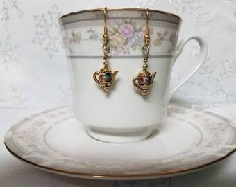 Cloissone TEAPOT earrings