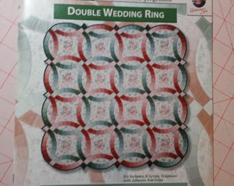 Omnigrid Double Wedding Ring Quilt Book and Templates by Sharlene Jorgenson