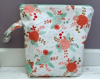 Large Floral Wet Bag