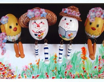 Original Print * Altered Print * Decorated Eggs * Wall Hanging