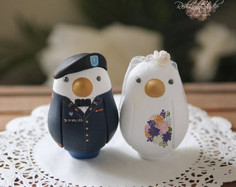 Military Wedding Cake Topper - Medium