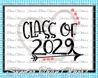 Senior SVG Class of 2029 Cut file Svg htv T shirt Design Vinyl  (SVG and DXF Files)  Silhouette Studios, Cameo, Cricut, Instant Download