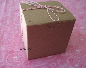 10 Gift Boxes, Kraft Boxes, Cupcake Boxes, Bakery Boxes, Single Cupcake Box, Jewelry Gift Boxes, Wedding Favor Boxes, Folding Box 4x4x4