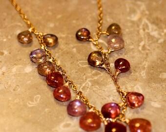 Gemmy Multicolored Sapphire Gemstone Necklace