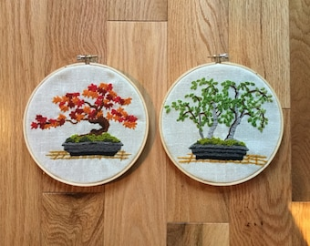 Bonsai embroidery vintage 2