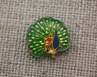 Peacock - Enamel Pin by American Gag Bag Inc. - Vintage Novelty Pin c. 1980s