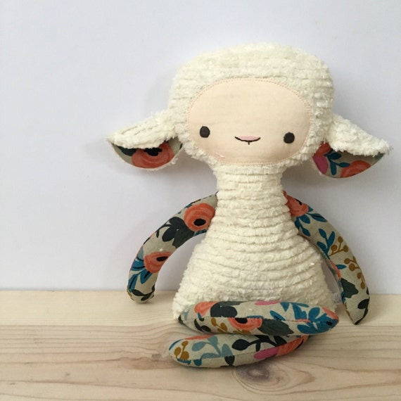 Chenille Lovey Lamb